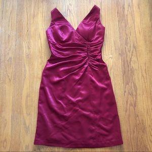 Bill Levkoff Formal Cranberry Shirt Dress 12